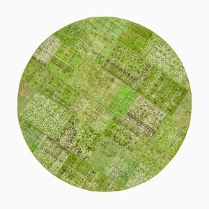 Tappeto rotondo verde