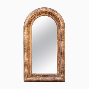 Neoclassical Regency Arch Gold Hand Carved Wooden Mirror, 1970
