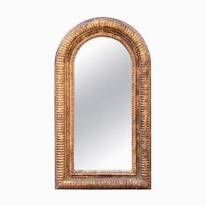 Neoklassizistischer Regency Arch Spiegel mit goldenem handgeschnitztem Holzrahmen, 1970