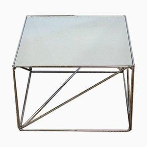 Mesa auxiliar pequeña de metal cromado de Max Sauze, años 70