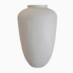 Large Mid-Century Ceramic 394/45 Floor Vase with Green Mottled Glaze, 1950s