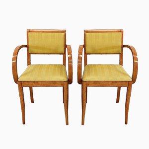 Bridge Armlehnstühle aus massiver Buche, 1950er oder 1960er, 2er Set