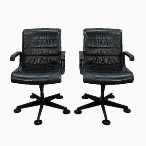 Leder Bürostühle von Richard Sapper für Knoll Inc. / Knoll International, 1979, 2er Set