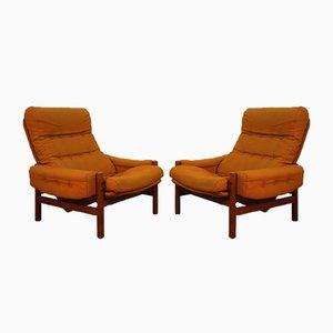 Skandinavische Stühle aus Teak, 1960er, 2er Set