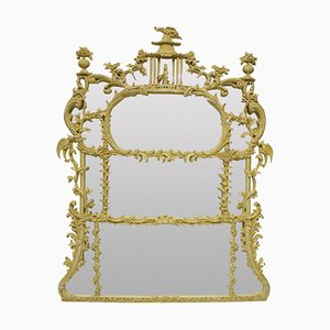 Chinese Chippendale Revival Overmantel Mirror, 1930s