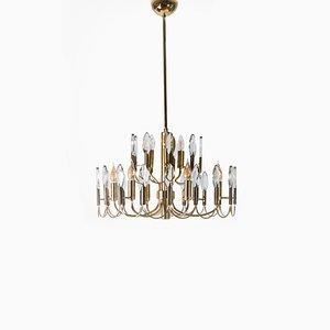 Lámpara de araña de 9 luces de Oscar Torlasco para Stilkronen