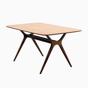 Coffee Table in Walnut with Scissor Feet, 1950s