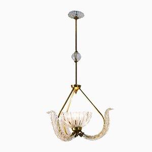 Mid-Century Deckenlampe aus Glas von Ercole Barovier für Barovier & Toso