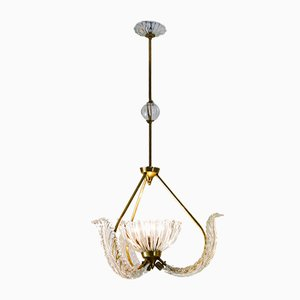Mid-Century Glass Ceiling Lamp by Ercole Barovier for Barovier & Toso