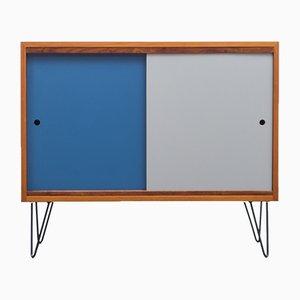 Sideboard in Walnut with Reversible Doors & New Hairpin Legs, 1960s