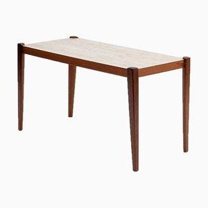 Mesa auxiliar de teca con formica, años 60
