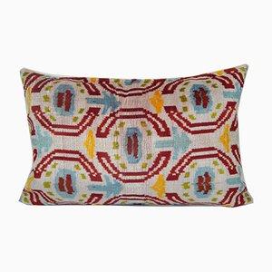 Square Uzbek Ikat Patchwork Cushion Cover