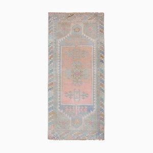 Vintage Turkish Low Pile Yastik Oushak Rug Mat