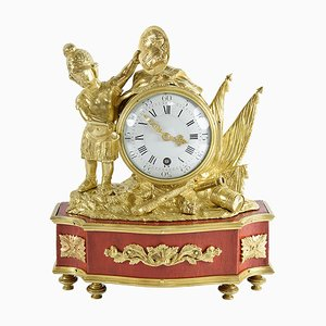 18th Century Clock with War Theme in Honor of Louis XV