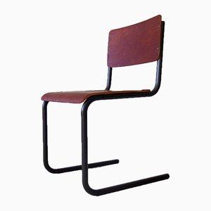 Industrial Plywood & Metal Desk Chair, 1950s
