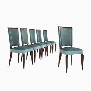 Art Deco Dining Chairs, France, 1920s, Set of 6