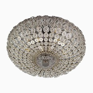 Space Age Glass Flower Flush Mount by H. Richter, 1950s