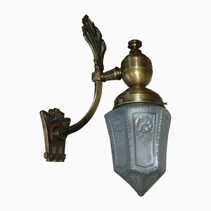 Art Nouveau Brass Wall Lamp