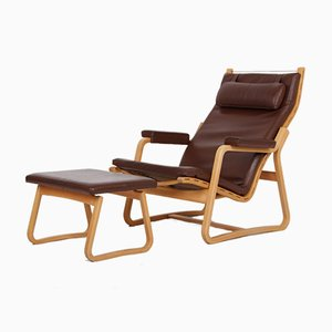 Lounge Chair with Stool by Ditte & Adrian Heath for France & Søn / France & Daverkosen, Set of 2
