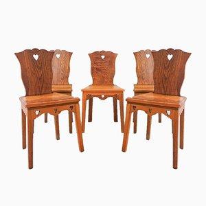 Portugiesische Stühle im modernen Stil, 1940er, 5er Set