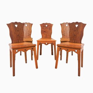 Portuguese Modern Style Chairs, 1940s, Set of 5