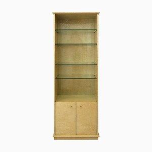 Tall Vintage Birdseye Maple Display Cabinet, 1980s