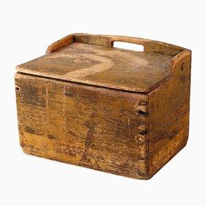 Caja sueca de madera, década de 1850