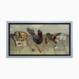 Maximilian Ciccone, Komposition, Öl auf Leinwand