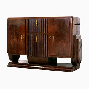 Art Deco Bar Cabinet with Turntable, Italy, 1940s