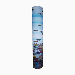 Lámpara de pie Aquarium de Piero Fornasetti, años 90