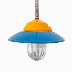 Lámpara de araña italiana Mid-Century de metal coloreado de Palazzoli, años 50