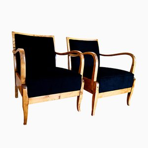 Art Deco Chairs, 1930s, Set of 2