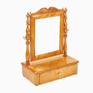 Espejo antiguo con cajón