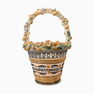 Decorated and Perforated Ceramic Basket