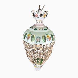 Entrance Kronleuchter oder Hängelampe aus Dekoriertem Glas mit Kristallen