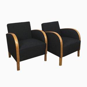 Art Deco Stühle, 1930er, 2er Set