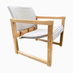 Vintage Diana Stuhl aus Leinen von Karin Mobring für Ikea