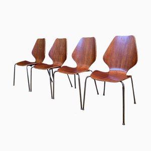 Stühle von Herbert Hirche für Jofy Stalmobler, Denmark, 1950er, 4er Set