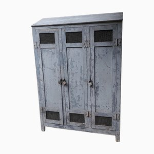 Industrial Patinated Factory Coat Cupboard