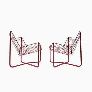 Chaises Jarpen en Métal Rouge par Niels Gammelgaard pour Ikea, 1983, Set de 2