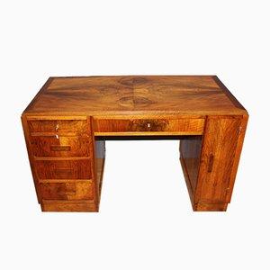 Art Deco Walnuss Schreibtisch