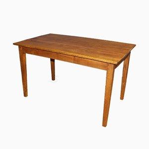 Esstisch aus Eschenholz, spätes 19. Jh