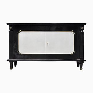 Art Deco Black Lacquer and Bronze Cabinet in the style of André Arbus, France, 1930s
