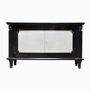 Mueble Art Déco lacado en negro y bronce al estilo de André Arbus, France, años 30