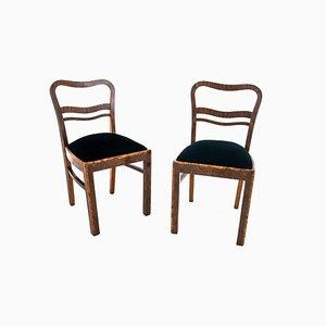 Art Deco Tisch mit Stühlen, Polen, 1940er, 3er Set