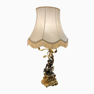 Bronze Chandelier Converted Into Table Lamp