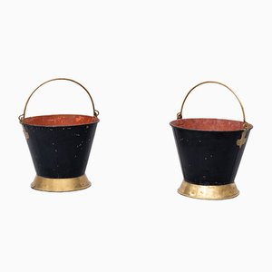 Antique Dutch Buckets, 19th-Century, Set of 2