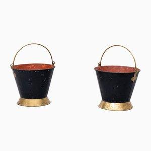 Cubos holandeses antiguos, siglo XIX. Juego de 2