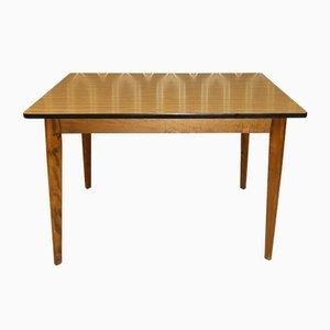 Table de Cuisine Stable en Formica Effet Bois, 1960s