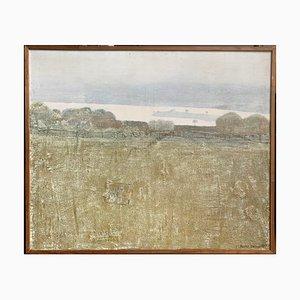 Dieter Stöver, Lake Coghinas Sardinia, Italy, 1980, Large Oil Painting